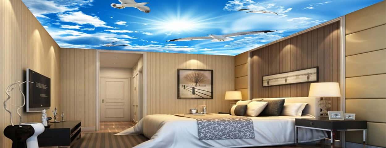 سقف کشسان اتاق خواب