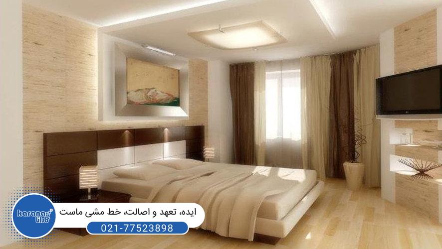 سقف های کشسان در اتاق خواب