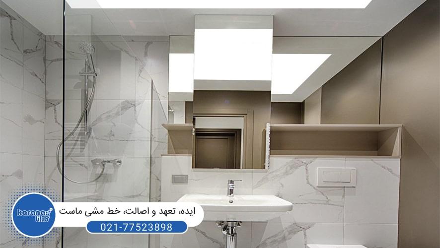 سقف کشسان دستشویی