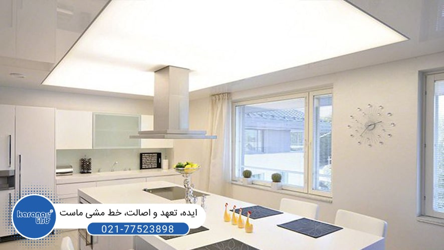 Stretch ceiling in the kitchen